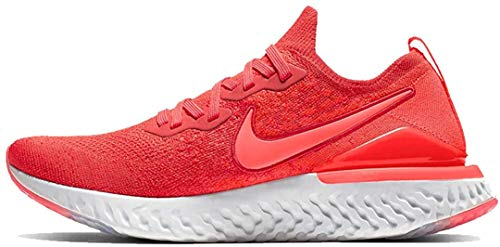 Nike Men's Epic React Flyknit 2 Running Shoe (9.5, Chile Red/Bright Crimson)