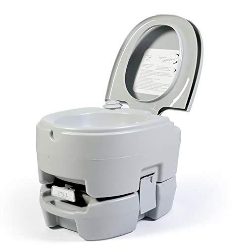 GW Inodoro Portátil para Camping 12L 125KG WC Portátil para Camping con Extraíble WC Portatil para Ancianos Niños Baño Móvil para Autocaravana
