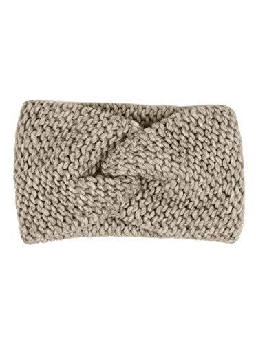 Zwillingsherz Stirnband mit Knoten - Hochwertiges Strick-Kopfband für Damen Frauen Mädchen - Wolle - Ohrenschutz - Haarband - warm weich und luftig für Frühjahr...