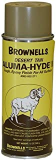 Brownell Aluma-Hyde 2 Epoxy Based Firearms Finish Aerosol Can Desert Tan