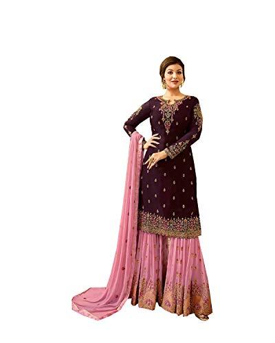 DELISA Ready Made New Designer Indian/Pakistani Salwar Suit for Women POO (Light Pink, M-40)
