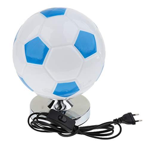 Perfeclan Lampe de Chevet - Football pour Garçon 220v - Bleu