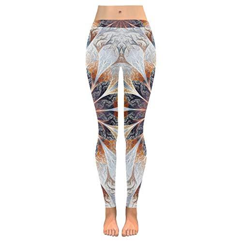 QUEMIN Pantalones de Yoga para Mujer, Tribalandala Floral Custom Stretch Capri Leggings Skinny Pants para Yoga Running Pilates Gym S