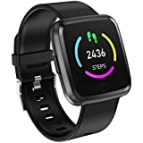 Smart Watch with Blood Pressure Monitor, Heart Rate Blood Oxygen Monitoring, Fitness Step Tracker, IP67 Waterproof Smartwatches for Ios Android Phones, Pedometer Step Calories Counter for Men Women