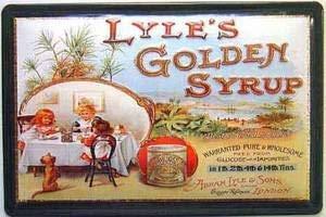 Jard-Baby Lyles Golden Syrup Tea Party Embossed Steel Cartello