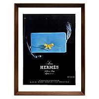 エルメス バッグ 1960年代 フランス ビンテージ 雑誌 広告 ポスター 額付 アートフレーム
