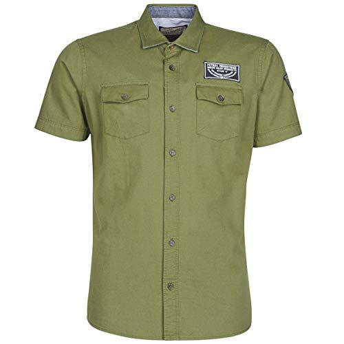 Petrol Industries Shirt Ss Hemden Herren Kaki - S - Kurzärmelige Hemden Shirt