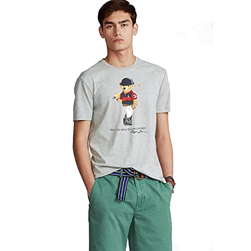Ralph Lauren T-Shirt Uomo Polo Mens Athletics (XL, Grigio)