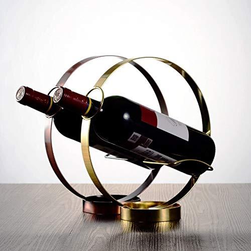Chejhua Moderno círculo vacuo Soporte de vino de acero inoxidable Restaurante Botella de mesa Titular de la botella de morada Barra de vino Rack Cumpleaños Fiesta de cumpleaños Herramientas de rack Ga