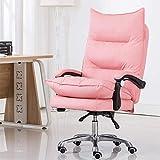 Silla ergonómica para oficina en casa, silla de juegos de masaje de respaldo alto para silla de ordenador (color rosa