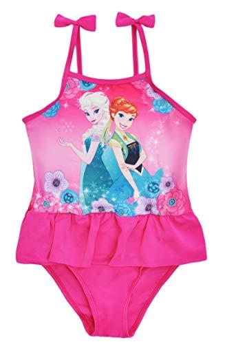 Disney Frozen Mädchen Badeanzug Anna Elsa Gr. 8-9 Jahre, rose