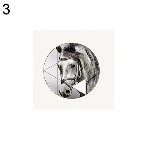bdrsjdsb Moderne geometrische Pferd Bild Leinwand Wandmalerei hängen Kunsthandwerk Home Wohnzimmer Dekor 40 * 50 cm 3#