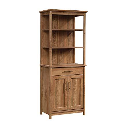 Sauder Coral Cape Library with Doors, L: 26.77' x W: 16.18' x H: 66.97', Sindoori Mango Finish