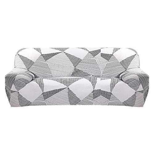 ASCV Funda de sofá elástica para Sala de Estar Funda de sofá Funda de sofá seccional Funda de sillón Muebles elásticos protegidos A6 4 plazas