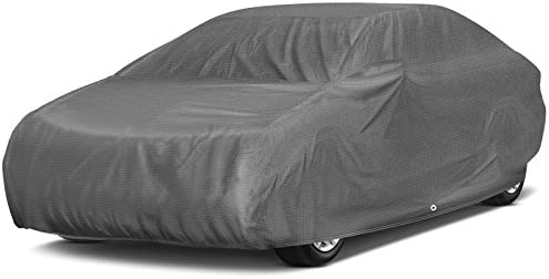 OxGord Signature Car Cover - Water Resistant 5 Layers - True Masterpiece - Ready-Fit Semi Glove Fit - Fits up to 204 Inches
