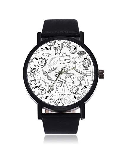 Back to School Ultrathin Herren Damen Armbanduhr Business Casual Sport Quarz Uhr für Frauen Herren Wasserdicht Unisex Armbanduhr