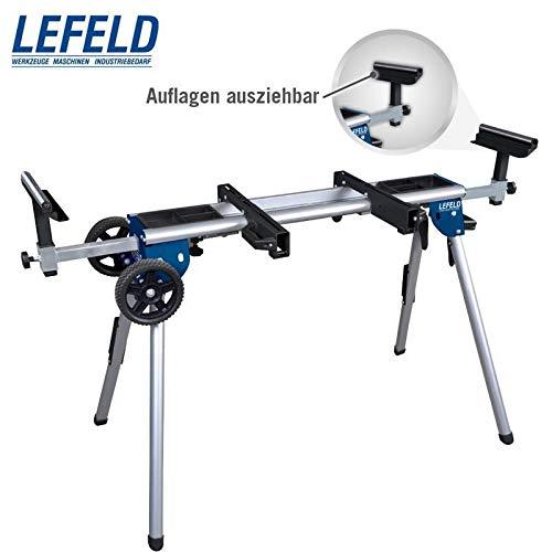 Lefeld Untergestell für Kappsäge UG 150 (leichter Maschinenständer bis 150 KG, Länge bis 167,5 cm, längen- und höhenverstellbar)