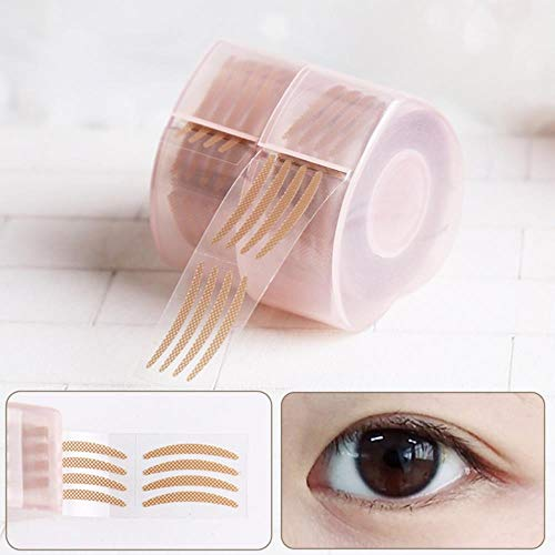 SELLM 600 Pcs Invisible Fibre Double Paupière Lift Strips Ruban Maille Dentelle Adhésif Autocollants Eye Tape, comme Image