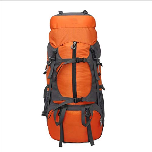MMWYC Outdoor Mountaineering Bag Hiking Backpack 65L Travel Camping Backpack Daypack with Durablewith Rain Cover (Color : Orange)
