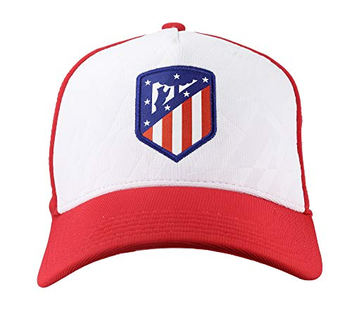 Atlético de Madrid Gorra Infantil Rojiblanco Producto Oficial - Nuevo Escudo