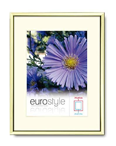 Mein Landhaus Bilderrahmen Alu Gold Kupfer Rose Alurahmen DIN A4 10x15 13x18 20x30 modern (Gold, 13x18cm)