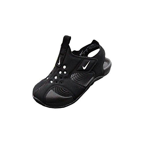 Nike Unisex Kinder Sunray Protect 2 (td) Durchgängies Plateau Sandalen, Schwarz (Black/White 001), 22 EU