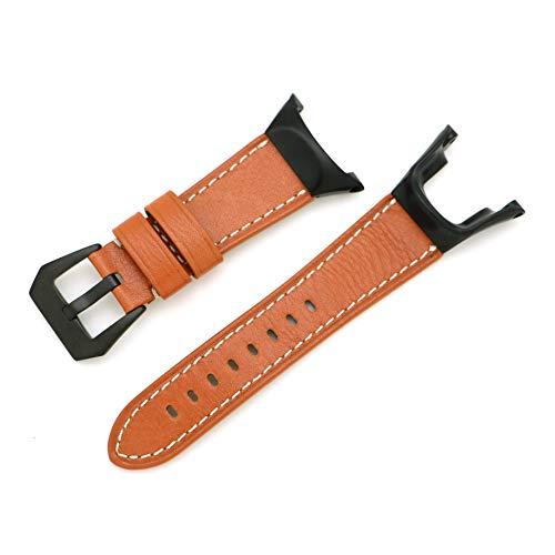 Demupai Bracelet de Remplacement en Cuir de Vache Bracelet de Montre pour Suunto Ambit 2/2S/2R/3 Sport/3 Run/3 Peak