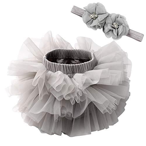 Happy Cherry Babyfotoshooting Mädchen Tüllrock Baby Grau Fotografie Outfits Baby Kostüm Baby Tütü Fotoshooting Kleidung Röcke Baby Geburtstagsgeschenk 6-12 Monate