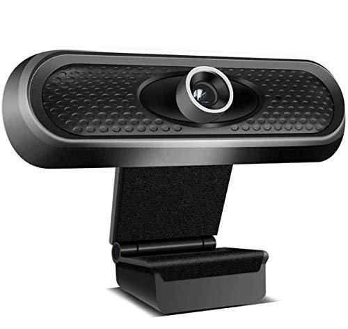 Cámara Web Gran Angular con Micrófono, Cámara Web HD 1080P para Videoconferencia En Streaming Cámara De Computadora para Escritorio, PC, Computadora Portátil Y Mac