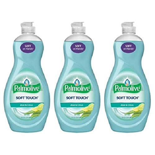 Palmolive Ultra Soft Touch Aloe And Citrus Liquid Dish Soap, 20 Fl Oz, Pack of 3