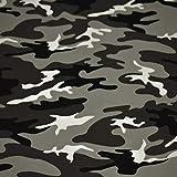 Jersey Vera, camouflage, grau (50cm x 160cm)