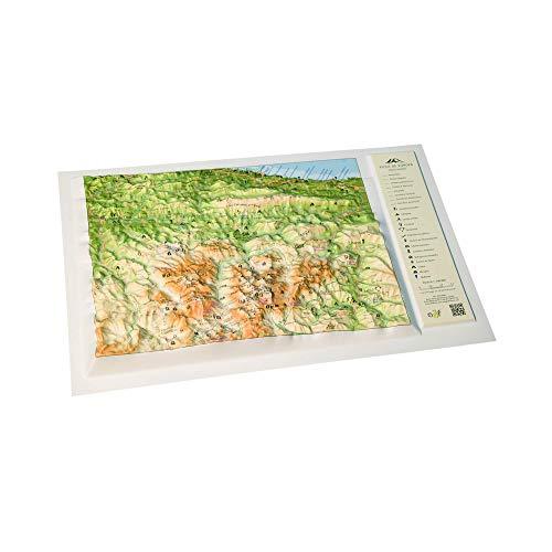 Mapa en relieve de los Picos de Europa: Escala 1:240.000