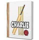Taccuino formato A5, a tema cricket, idea regalo per compleanno, Natale, calza della Befana, Babbo Natale segreto, aggiungi qualsiasi nome