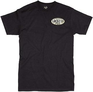 Lucky 13 Black American Original T-Shirt (Small, Black)