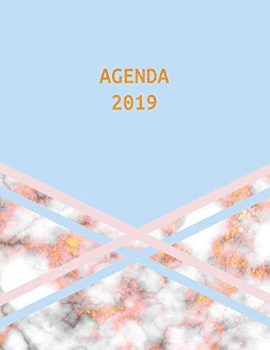 Agenda 2019: Trendy & Hippe Planner   Goud Marmer met Blauw...
