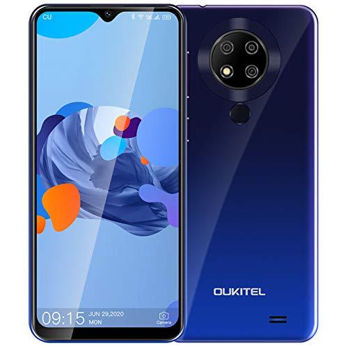 進化版 OUKITEL C19 PRO Android 10 4G SIMフリースマホ 4GB 64GB 1300万高画素 トリプルカメラ 6.49インチ 4000mAh 大容量バッテリー 顔認証 指紋認識 1年間保証付き ドコモ ソフトバンク YmobileSIM対応 PSE認証&技適認証済み(紫)