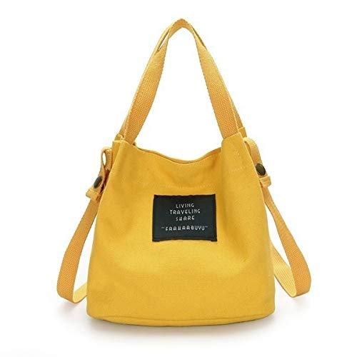 Best-ycldcyp Women Fashion Canvas Handbag Shoulder Crossbody Tote Purse Satchel Messenger Hobo Bag (Color : Yellow)