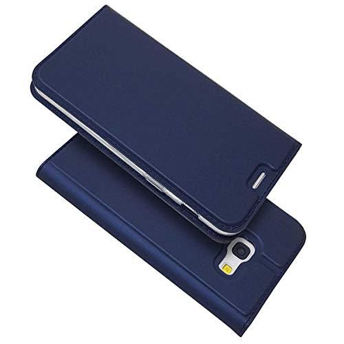 Galaxy A3 2017 Hülle, Bravoda Schlanke PU Leder Flip Brieftasche Schutzhülle Hülle mit Stand, Magnetverschluss und Kartenfächer für Samsung Galaxy A3 2017, Blau