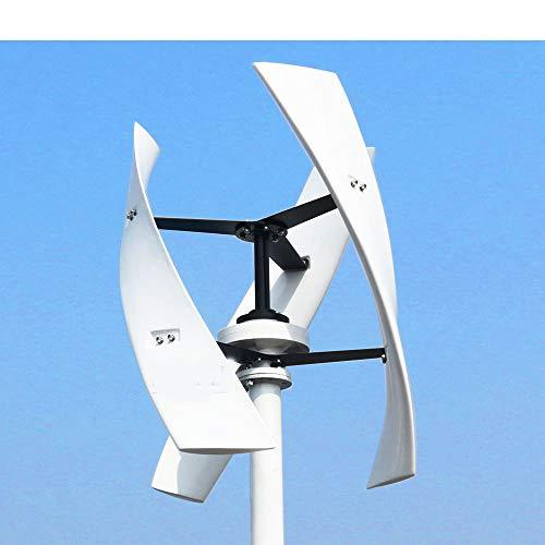 Windturbine Magnetisch, 600W 12V 24V 48V 300RPM Vertikale Windturbine Magnetschwebebahn Windgenerator mit 1000W ON Grid Tie Inverter,D,24V