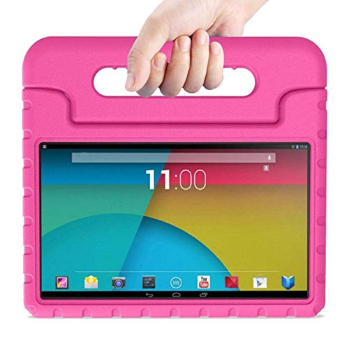 BMOUO Kids Case for All-New F i r e HD 8 2018 - Shock Proof Light Weight Convertible Handle Stand Protective Cover Kid-Proof Case for A m a z o n F i r e HD 8 (8th Generation, 2018 Release), Rose