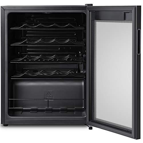 Inventor Vino Weinkühlschrank 66L für bis zu 24 Weinflaschen, Temperatureinstellbereich 5-18°C,...