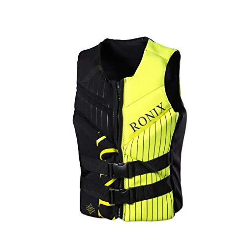 Great Features Of WUZHONGDIAN Life Jacket, Adult Life Jacket Vest, Green (Color : Yellow, Size : XXX...