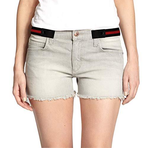 SWAUSWAUK 2 Pezzi Cintura Senza Fibbia - Cintura Elastica Senza Fibbia per Donna e Uomo Unisex Cintura Elastiche per Jeans Pantaloni(Strisce Nere e Rosse, Strisce Blu e Bianche)