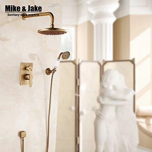 Luxurious shower Badezimmer Wand verborgene antike Dusche Wasserhahn mixer schwarze ORB Bad kit Badewanne mixer set Dusche zwei Funktion set Dusche Dusche, Klar
