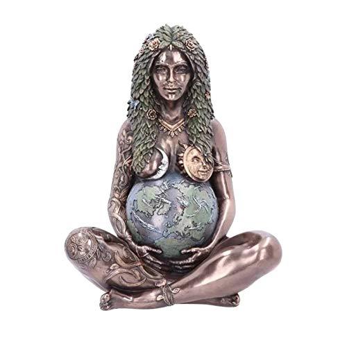 Resin Millennial Gaia Art Statue - Earth Mother Goddess Statue, Nature Mother - Moana Goddess Te Fiti, Mother's Day Gift & Home Decorative Figurine, Handcraft Art Statue (J)
