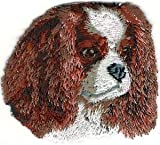 VirVenture 2 1/8' x2 1/2' Cavalier King Charles Spaniel Dog Breed Embroidery Patch Great for Hats, Backpacks, and Jackets.