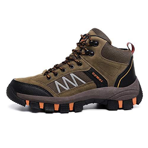 LILY999 Scarpe da Trekking Uomo Impermeabile Scarpe da Escursionismo Arrampicata Stivali da Neve Inverno Hiking Boots(Marrone,44 EU)