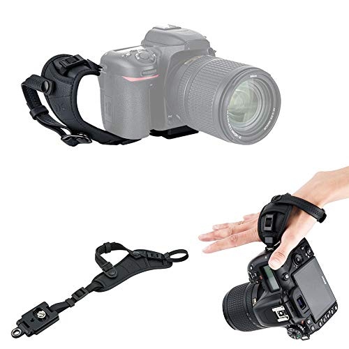 JJC Deluxe Camera Hand Grip Strap for Canon EOS 6D Mark II 5D Mark IV III 7D 90D 80D Rebel T8i T7i T6i T7 T6 Powershot SX70 HS Nikon D750 D780 D850 D500 D7500 D7200 D5600 D3500 Coolpix P1000 & More -  PRO1MB