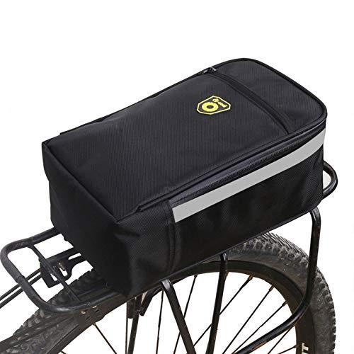 adfafw Bicicleta Bicicleta eléctrica Asiento Trasero Maletero Bolsa Almohadilla Pannier
