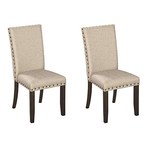 Signature Design by Ashley Rokane Dining Room Chair, Light Brown